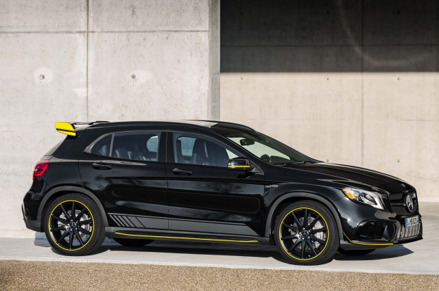 2017 Mercedes-AMG GLA45 4Matic Yellow Night Edition - front, black