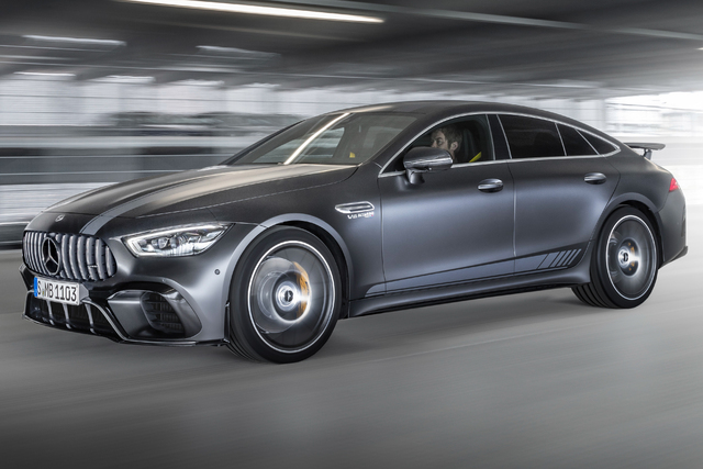 2018 Mercedes-AMG GT63 S 4Matic+ First Edition 4-door - front, gray