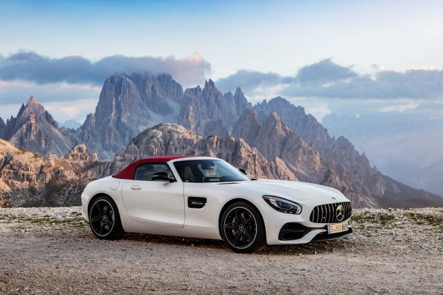 2017 R190 Mercedes-AMG GT Roadster - front, white