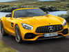 2018 Mercedes-AMG GT S Roadster - front, Solarbeam yellow