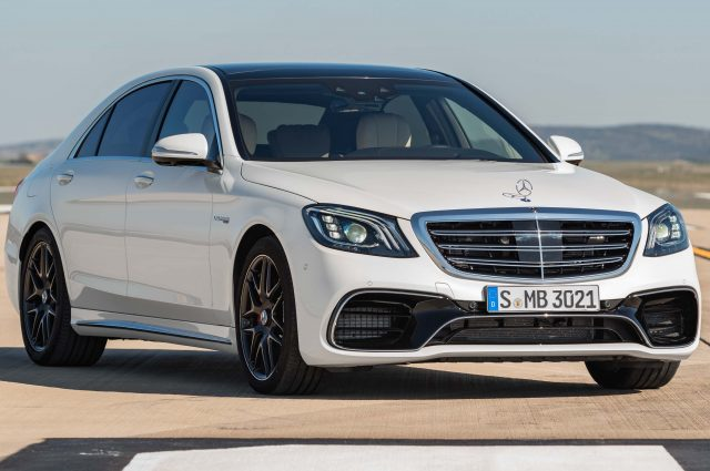 2017 Mercedes-AMG S63 4Matic+ facelift - front, white