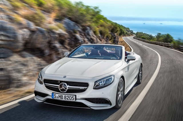 A217 Mercedes-AMG S63 4Matic cabriolet - front, white