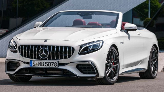 2017 Mercedes-AMG S63 4Matic+ cabriolet facelift - front, white