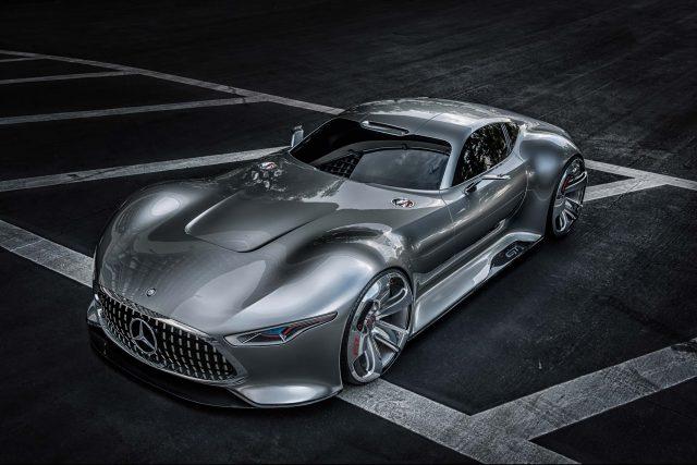 Mercedes-Benz AMG Vision Gran Turismo - front, silver