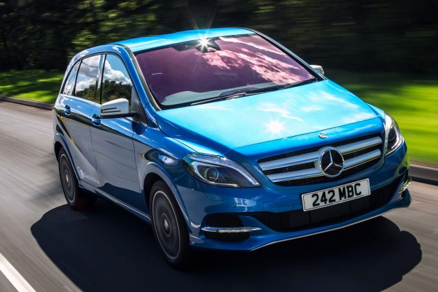 2015 Mercedes-Benz B-Class Electric Drive - front, blue