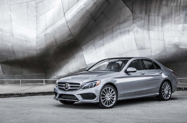 2015 Mercedes-Benz C-Class (W205) - silver, front, profile