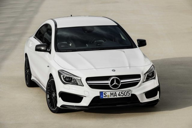 Mercedes-Benz CLA45 AMG white - front