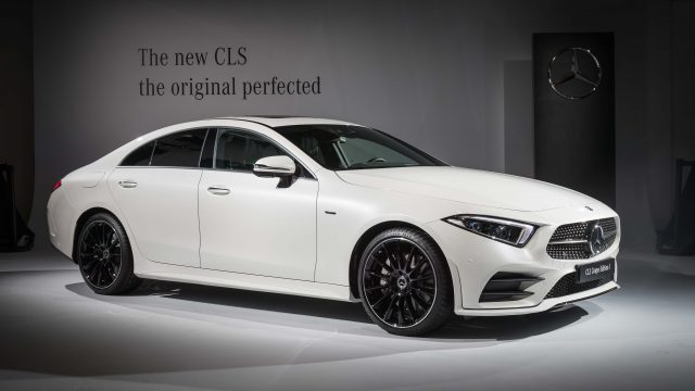 2018 Mercedes-Benz CLS Edition 1 - front, white, on stage