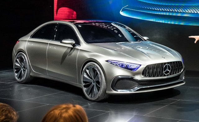 Mercedes-Benz Concept A Sedan - front, live, on stage, silver