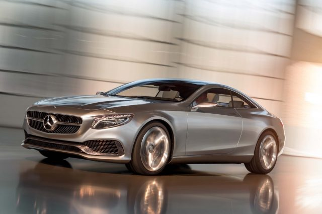 Mercedes-Benz Concept S-Class Coupe silver - front