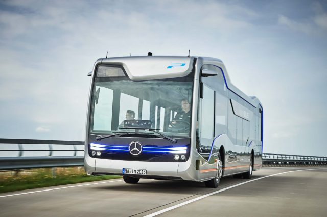 Mercedes-Benz Future Bus - front, driving