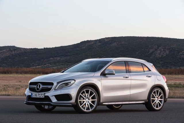 X156 Mercedes-Benz GLA45 AMG - front, silver