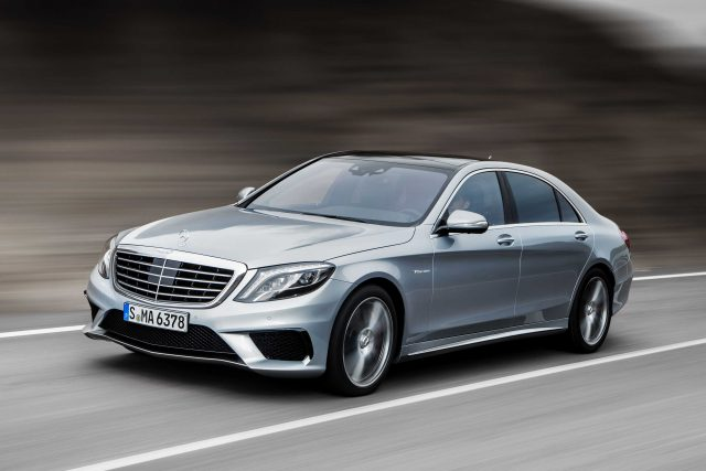 W222 Mercedes-Benz S63 AMG - front, silver