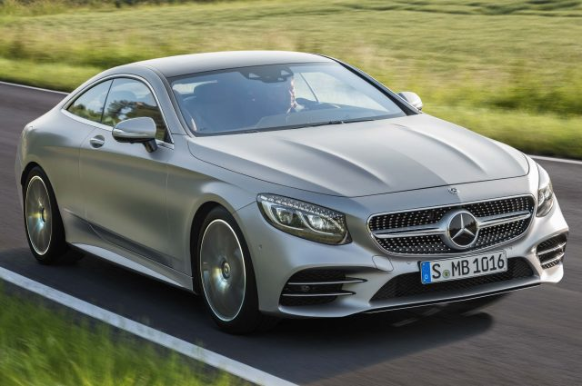 2017 Mercedes-Benz S-Class Coupe facelift - front, silver