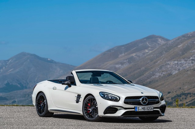R231 Mercedes-AMG SL63 facelift - front, white, top down