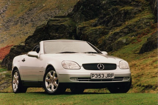 R170 Mercedes-Benz SLK - front, silver, top down