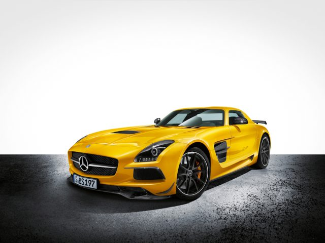 C197 Mercedes-Benz SLS AMG Black Series coupe - yellow, front