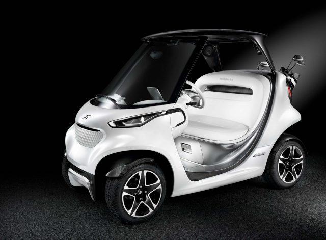 Mercedes-Benz Style Edition Garia Golf Car - front, white
