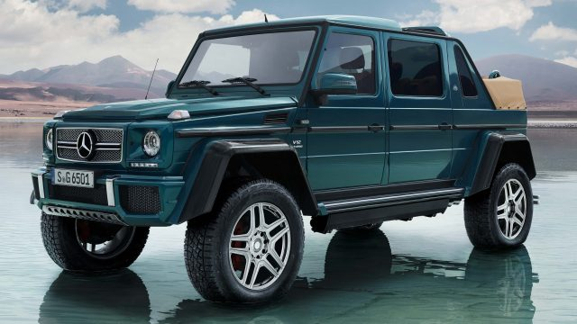 2017 Mercedes-Maybach G650 Landaulet - front, top down
