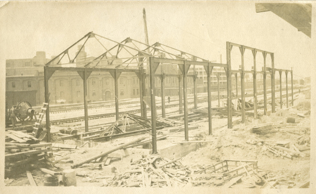 Michigan Central Station framework, circa 1913