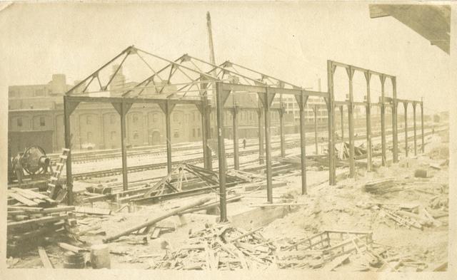 Michigan Central Station framework, circa 1913