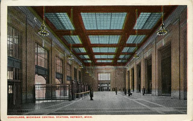 Postcard depicting Michigan Central Station, circa 1915.