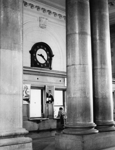 Michigan Central Station ticket windows in 1980
