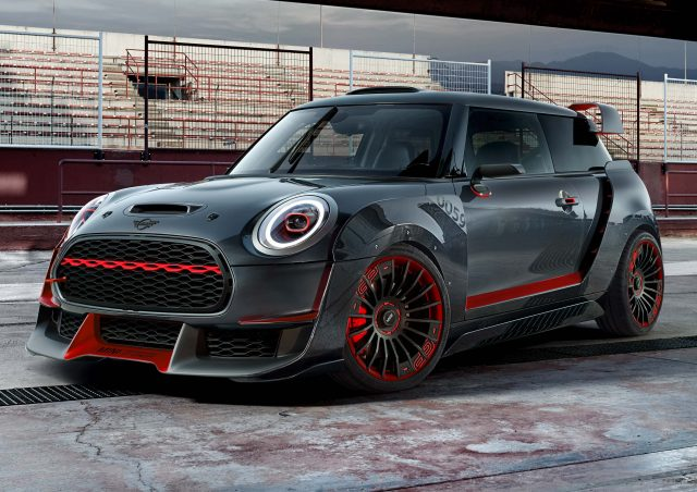 mini john cooper works gp concept 2017 f56 third generation photos between the axles. Black Bedroom Furniture Sets. Home Design Ideas
