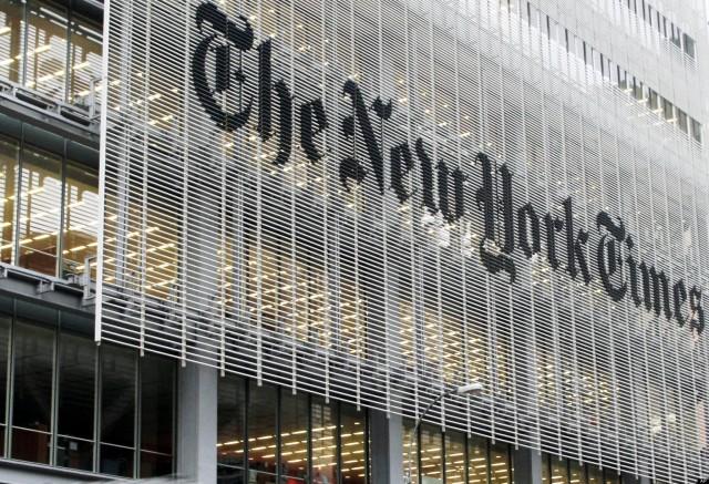 The New York Times building facade