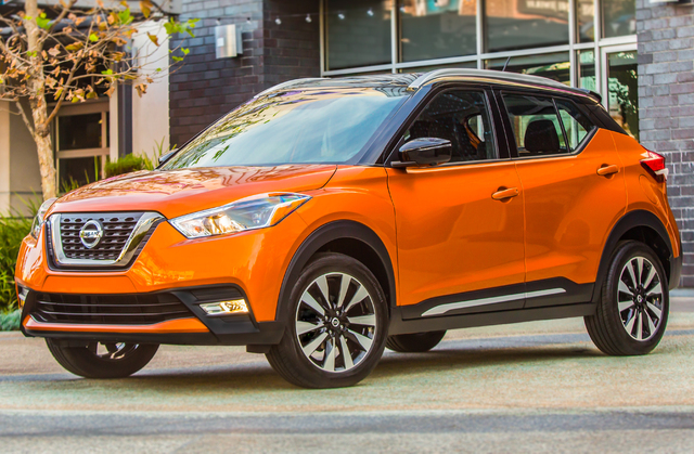 2018 Nissan Kicks - front, orange