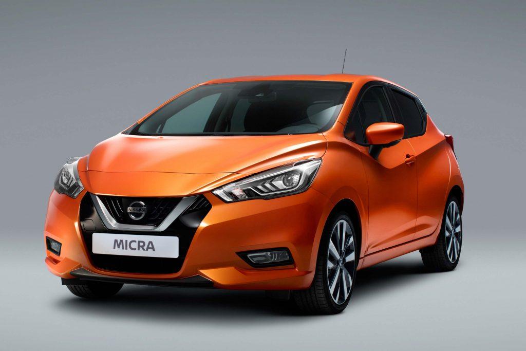 K14 Nissan Micra - front, orange, studio