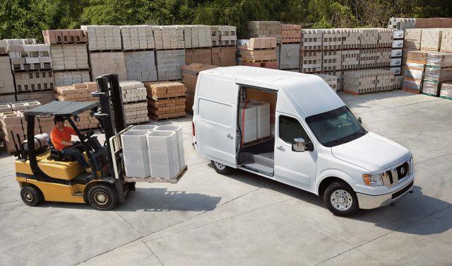 2017 Nissan NV Cargo - white, front, loading