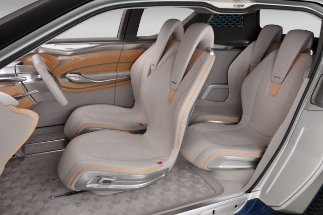 Nissan Terra concept - front and rear seats