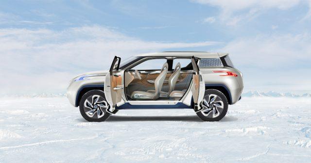 Nissan Terra concept - side, suicide doors open