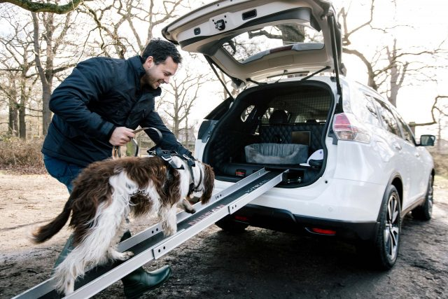 2017 Nissan X-Trail 4Dogs concept - dog on dog ramp
