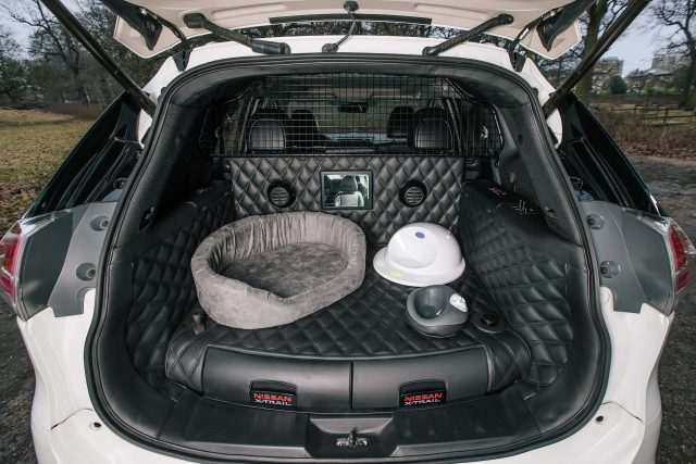 2017 Nissan X-Trail 4Dogs concept - trunk with dog seating