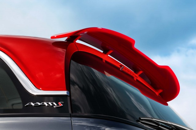 Opel Adam S - red roof and rear spoiler