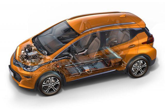 Opel Ampera-e - powertrain, cutaway