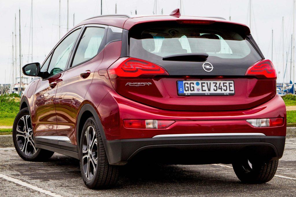 Opel Ampera-e - rear, red