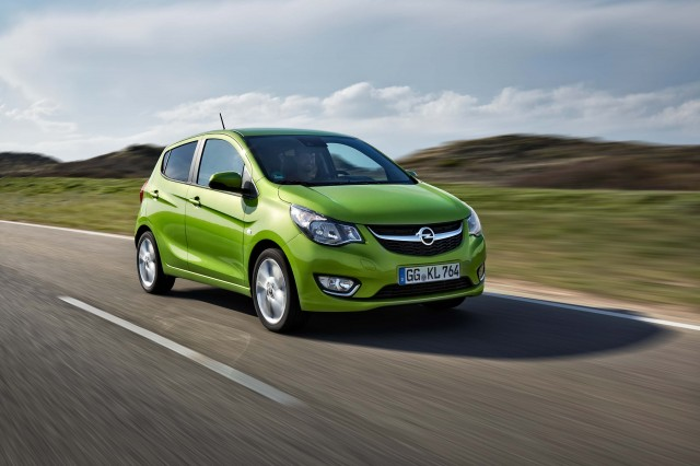 Opel Karl - green, front, driving
