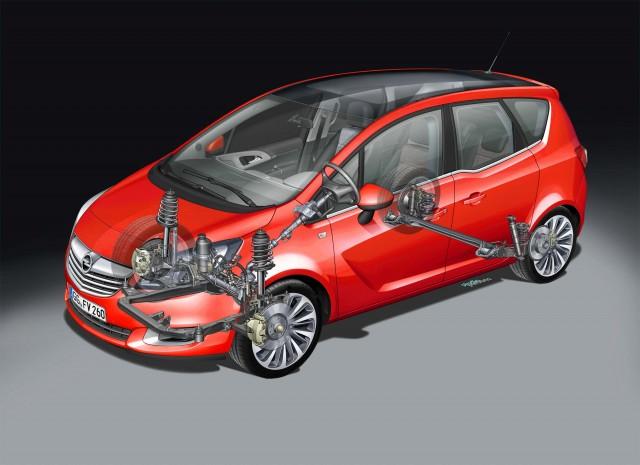 Opel Meriva Chassis