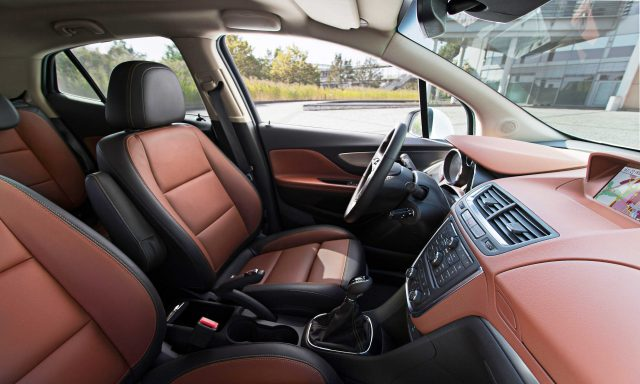 2012 Opel Mokka - front seats, brown and black leather