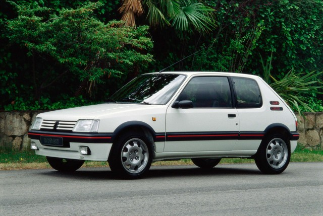 Peugeot 205 GTi - front, white