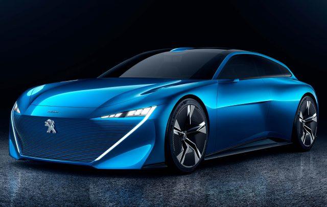2017 Peugeot Instinct concept - front, blue