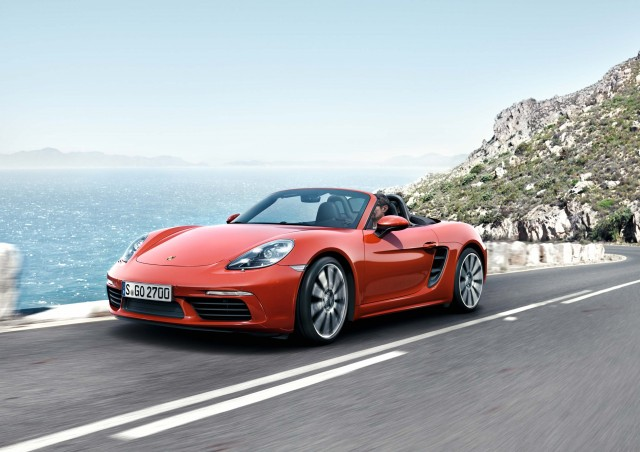 Porsche 718 Boxster S - front, red