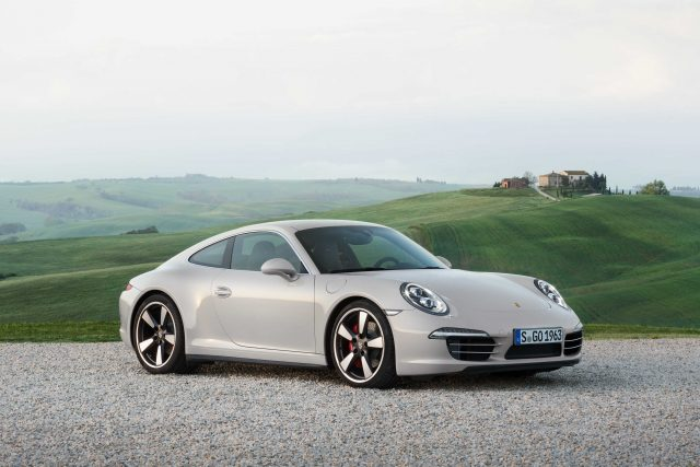 Porsche 911 50th Anniversary Edition - front, white