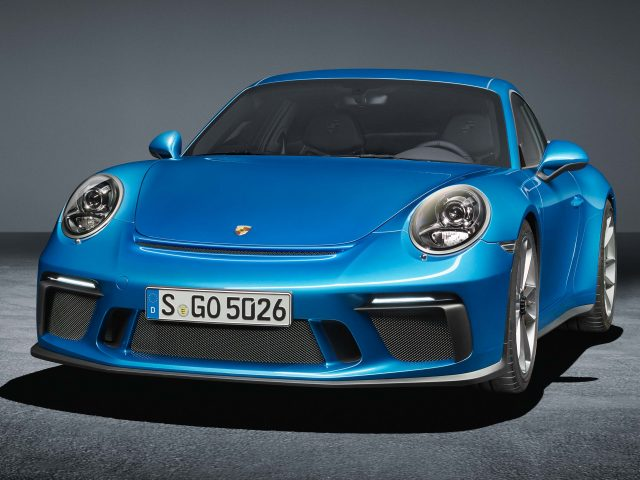 2017 Porsche 911 GT3 Touring Package - front, blue