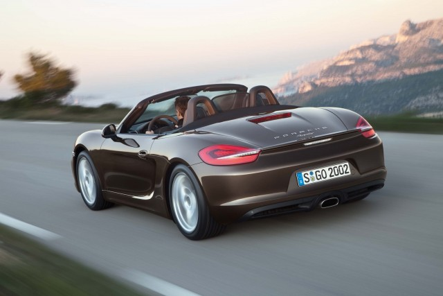 981 Porsche Boxster - action, rear