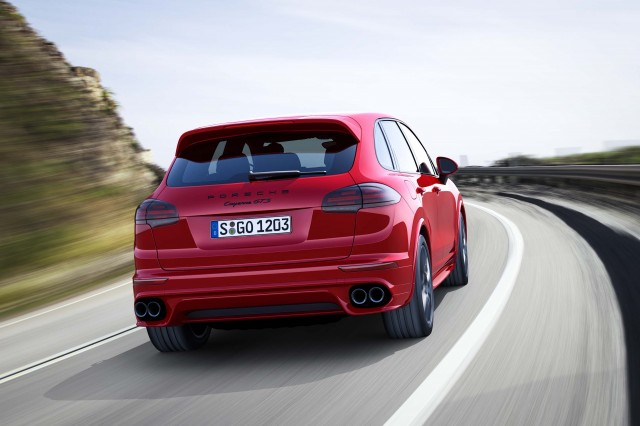 Second generation Porsche Cayenne GTS - rear, on the road