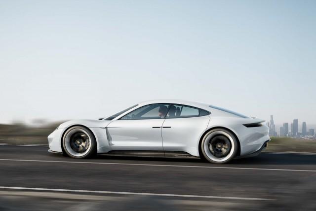 Porsche Mission E concept - side